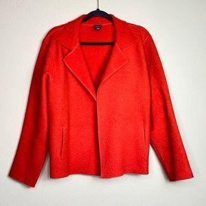 Eileen Fisher wool open front blazer